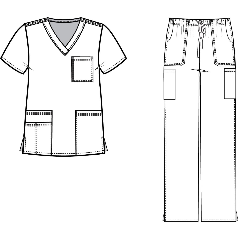 Line Art Uniform : Medgear womens scrubs set medical uniform pocket top