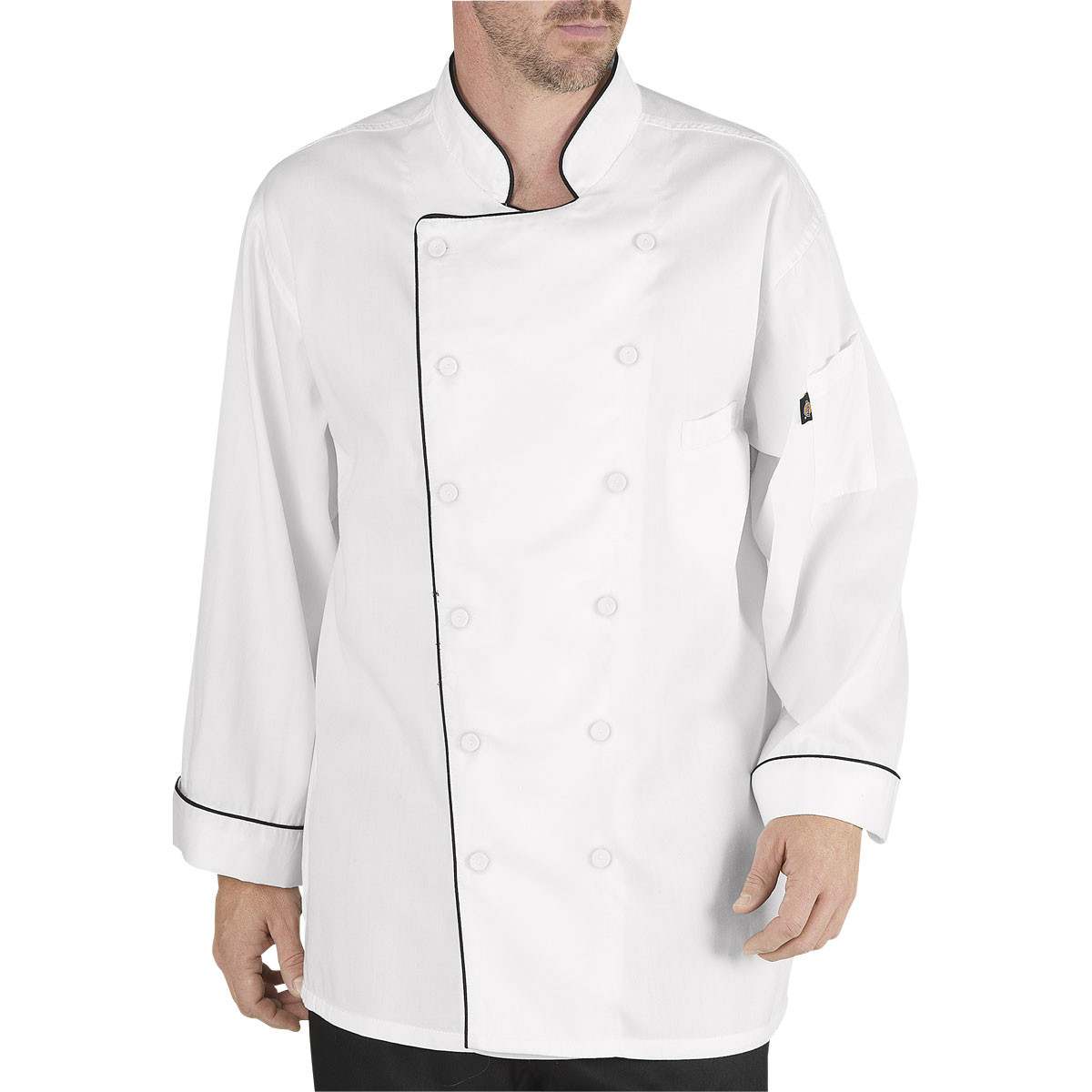 Dickies Mens Executive Coat with Stain Repellent with Piping Chefs Jacket