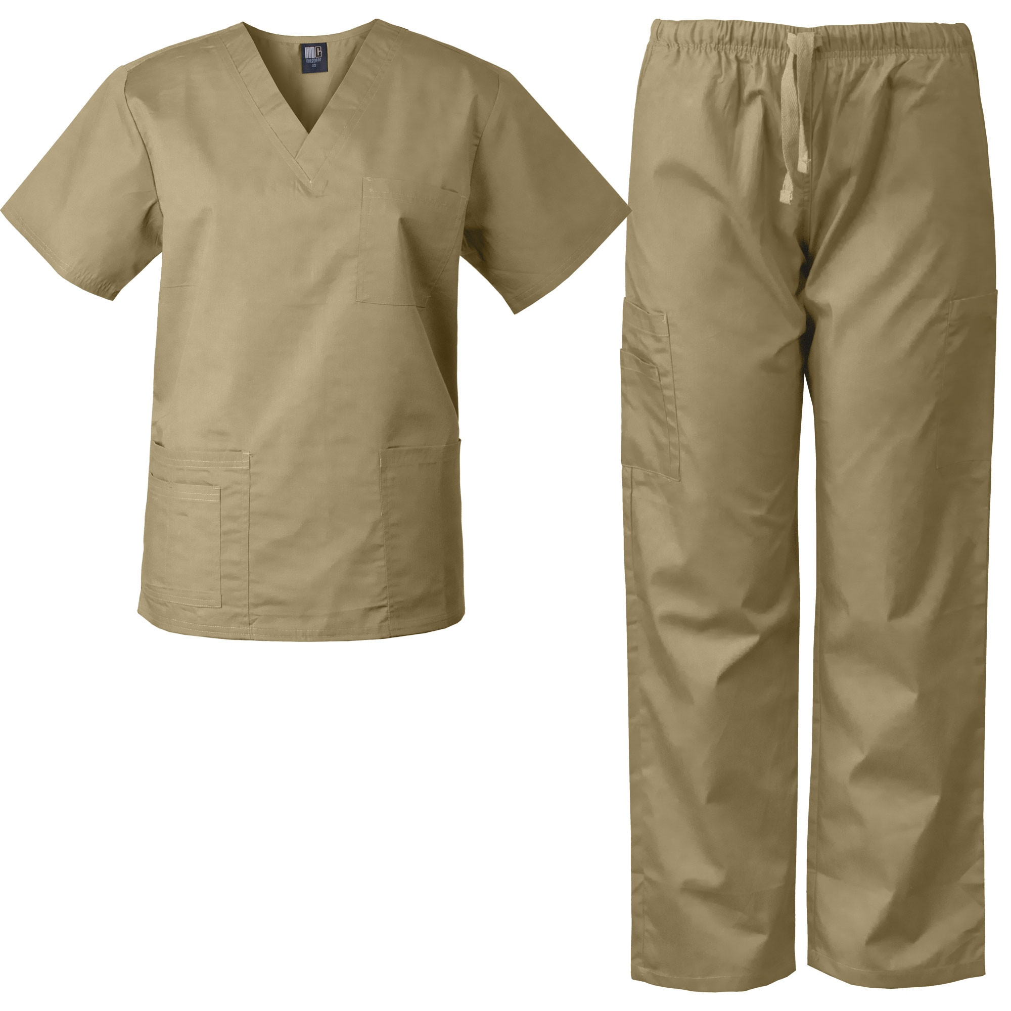 a5b5c501549 MedGear Scrubs Set Multi-Pocket Top & Pants, Eversoft Fabric, Unisex ...