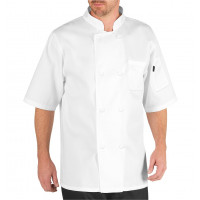 Chef Code Basic Short Sleeve Chef Coat with Pearl Buttons, Chef Jacket CC124