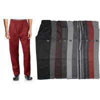 Chef Code Unisex Modern Fit Chef Pants with Cargo Pockets, Elastic Waist CC220