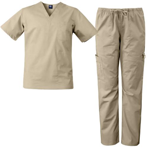 Medgear Men's Stretch 12-pocket Utility Unisex Scrub Set XS-5XL