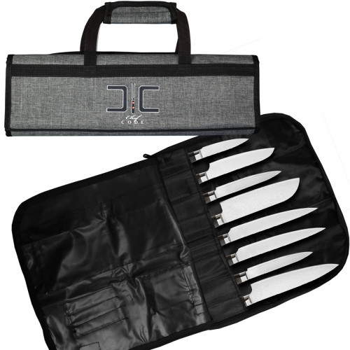 Chef Code Chef Knife Bag, 8 Knife Roll Bag with Accessory Mesh Pockets