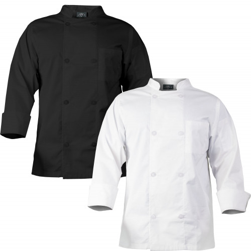 Chef Code Men's 8 Pearl Button Chef Coat