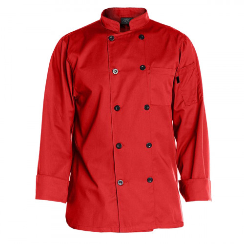 Chef Code Men's 10 Pearl Button Classic Chef Coat