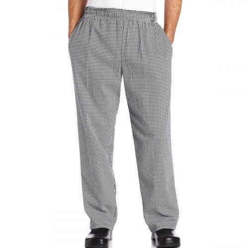"""Chef Code Baggy Chef Pants with Wide 2"""" Elastic Waistband"""