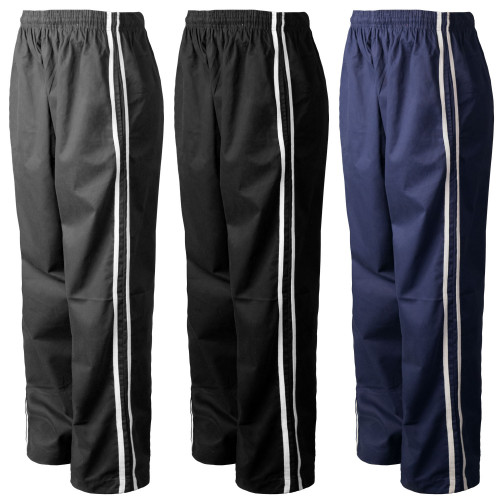 Chef Code Chef Pants, Classic Baggy with Elastic Waist, Drawstring and Stripe Detail