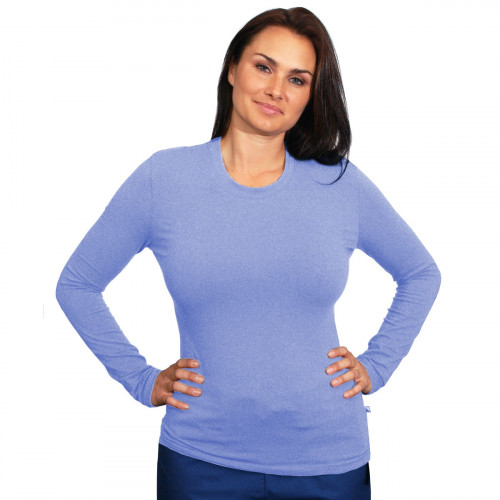Material Girl Long Sleeve Solid Stretch Tee, Solid Plain T-shirt
