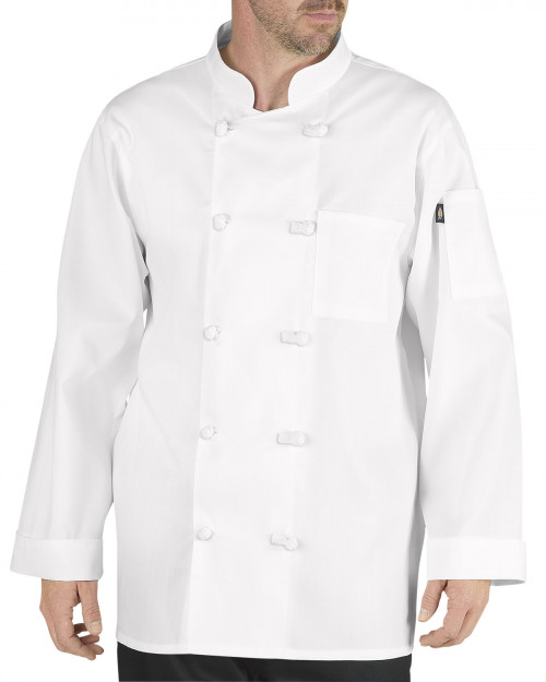 Dickies Francesco Classic Chef Coat w/ Cloth Knot Buttons