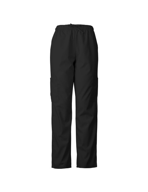 Lightweight Scrub Pants with Elastic Waist and Cargo Pockets
