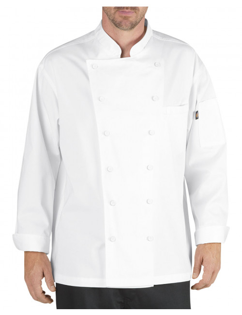 Dickies Lorenzo Executive Chef Coat with Cloth Covered Buttons