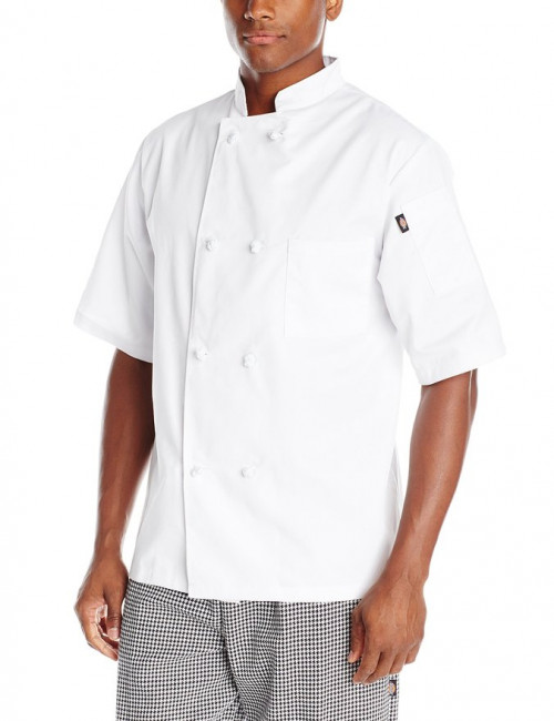 Dickies Chef Luigi Classic Chef Coat with Cloth Knot Buttons