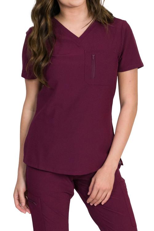 Medgear Fusion-Newport Women's 2-Pocket Chest Top