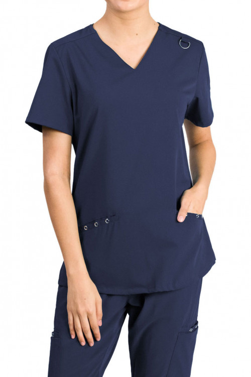 Medgear Fusion-Everlyn 2-Pockets Welt and Eyelet Details Top