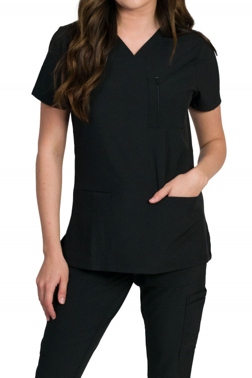 Medgear Fusion-Olympia Women's 4-Pocket Two Snaps and Utility Bands Top