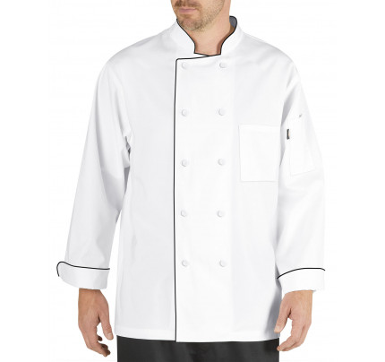 Dickies Lightweight Cool Breeze Chef Coat Long Sleeve w/ Mesh Inlay