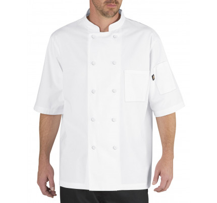 Dickies Lightweight Cool Breeze Chef Coat Short Sleeve w/ Mesh Inlay